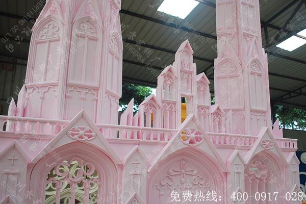 婚庆城堡泡沫造型制作